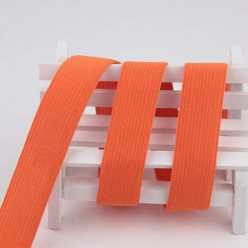 Kleur vlakke naad voor het naaien van elastische ondergoed elastische zachte kledingaccessoires Panty elastiek in de taille 1m,9 Oranje