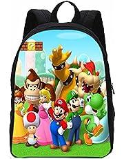 LIANGJI Super Mario Schooltas Super Mario Vs Sonic Kids Rugzak Afdrukken Schooltas Set Voor Tiener Kinderen Meisjes Boekentas Satchel Schooltas Mochila Escolar