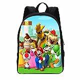 Mario School Bag Super Mario Vs Sonic Kids Mochila de impresión bolsa escolar Set para adolescentes Niños Niñas Bookbag Satchel Schoolbag Mochila Escolar