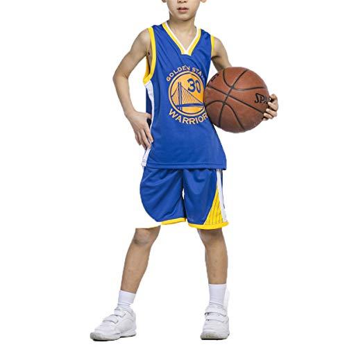 LIZTX Camiseta De Baloncesto para Niños Warriors # 30 Stephen Curry Jerseys Hombres Y Mujeres Conjunto De Traje De Entrenamiento De Baloncesto para Niños Ropa De Rendimiento