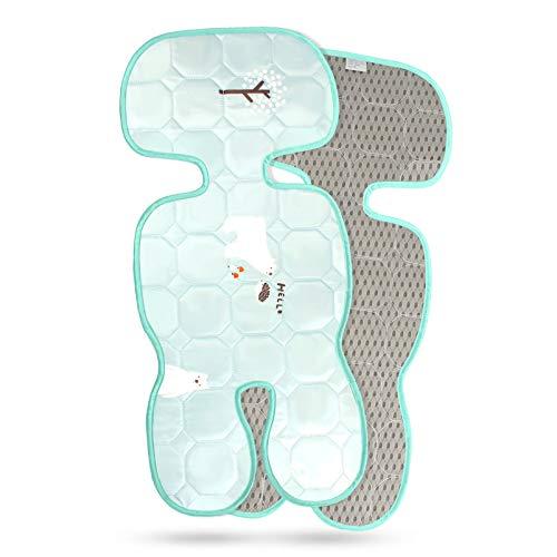 KOROSTRO Baby Sitzauflage für Kinderwagen, Baby Sitzeinlage aus 100% Baumwolle Weiche und Reversible Autositz Kinderwagenauflage für Kinderwagen, Buggy, Kindersitz und Babyschale