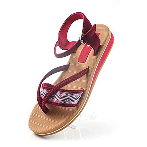 Sandalias de Plataforma Mujer Zapato de Punta Abierta Exterior Senderismo Antideslizante Respirable Sandalias de Playa Cómodo Fondo Grueso Aldaba Shoes para Estudiante,Fiesta,Turismo,Pool