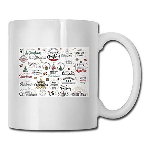 Lawenp Feliz Navidad 2020 Tazas de cerámica personalizadas Tazas de porcelana con fondo antideslizante para café, té, cacao