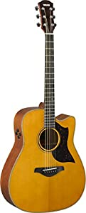 This is the Yamaha A3M Acoustic Guitar in Natural Finish