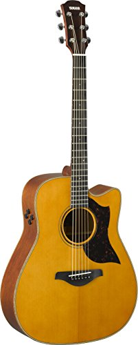 Yamaha 6 String Series A3M Cutaway Acoustic-Electric Guitar-Mahogany, Vintage Natural, Dreadnought VN