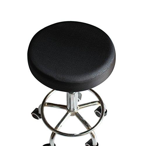 VORCOOL 33 cm Funda para taburete asiento cojín cubierta de algodón grueso elástico taburete redondo silla cubierta protectora