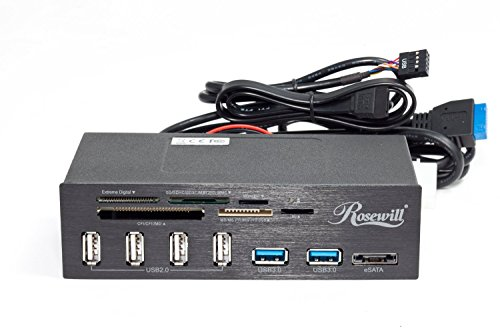 Rosewill 2-Port USB 3.0 4-Port USB 2.0 Hub eSATA Multi-in-1 Internal Card Reader with USB 3.0 Connector (RDCR-11004)