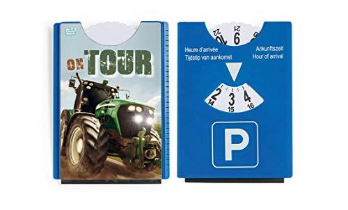 Der-Kaarten-Shop.de fun leuk motief parkeerschijf met ijskrabber en rubberen lip tractor On Tour!