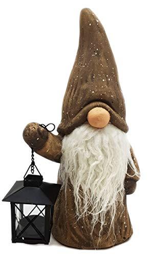 Wichtelstube-Kollektion XXL Wichtel Figuren Weihnachten 35cm mit Laterne Keramikfigur Winterkinder