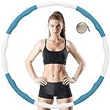 VANBAR Hula Hoop para reducción de peso, neumáticos con espuma de aprox. 1 kg con mini cinta...