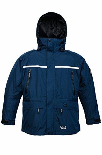 Viking Men's Tempest Tri-Zone Waterproof Insulated Winter Jacket, Large, Royal Blue/Black