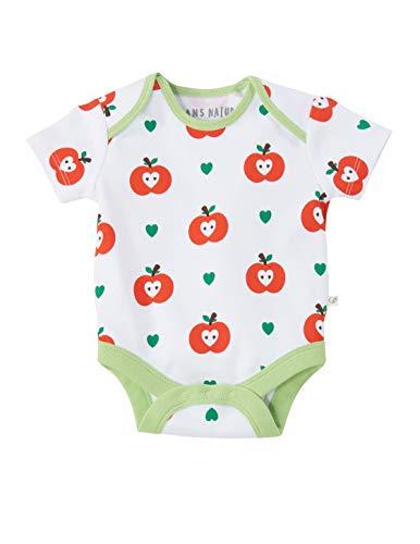 Baby Body Kurzarm 100% Bio-Baumwolle (kbA) GOTS zertifiziert, Apfel, 86/92