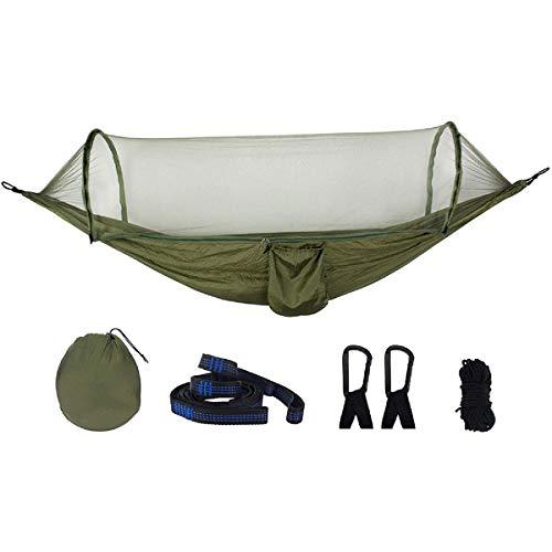 ASDFGHJKL Hamaca Jardin ExteriorCamping Hammock 210T Hamaca De Nylon Ourdoor Camping Viajes Cama Colgante con Hamaca De Mosquitera