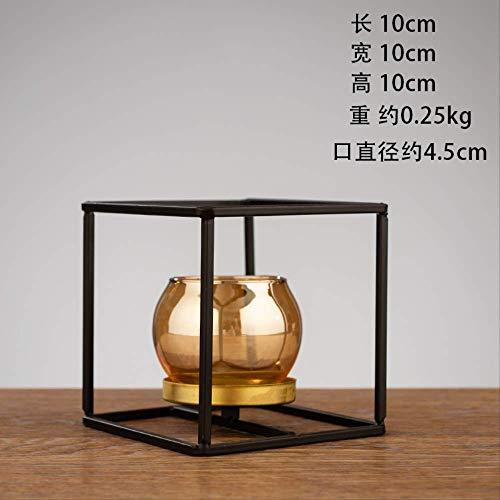 SEHBDY Candelero Simple Hierro Geométrico Vela Soporte Europeo Cena Apoyos Vela Casera KX18-32-1 (Entrega de Cera de té x 1 Grano)