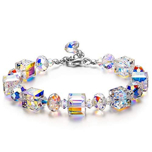 Susan Y Armband Damen Frauen Armband Armreif Schmuck Kristalle Damenarmband Weihnachten Valentinstag Muttertag Geburtstag Geschenke für Frauen Mama Damen Freundin Tochter