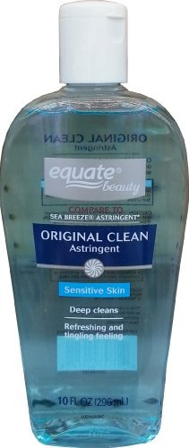 Original Clean Astringent for Sensitive Skin 10oz By Equate, Compare to Sea Breeze Astringent