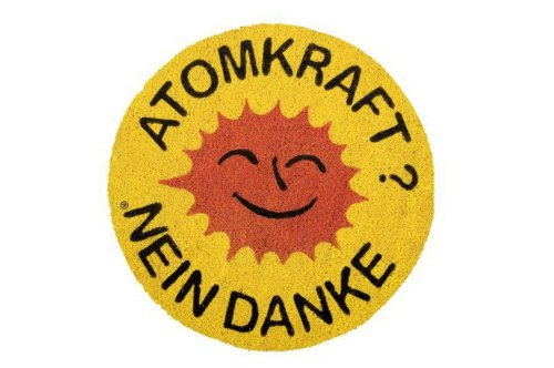 Fußmatte Kokos Atomkraft Nein Danke Gift Company