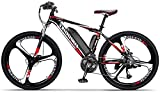 Bicicletas Eléctricas, Electric Bike City Hombres, extraíble 36V 10AH / 14AH de litio-ion batería integrada, 27-nivel de desplazamiento asistida, 110-130Km campo de prácticas, Frenos de disco doble bi