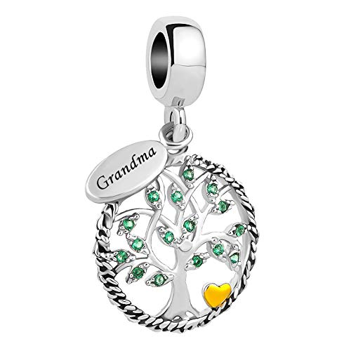 UNIQUEEN Grandma Tree of Life Dangle Charms fit Charm Bracelet & Necklace