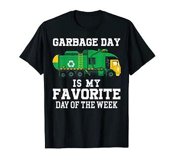 Garbage Day Is Favorite Trash Truck Kids Boys Toddlers Gift T-Shirt