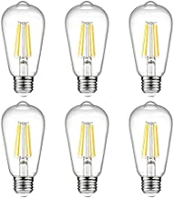 MODI Edison ST64 6W FCC CE RoHS Non-dimmable Filament Squirrel Cage LED Bulb, 6W 6Pack
