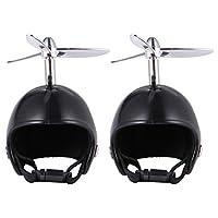 Balacoo 2ピース安全オウムヘルメットグッズチキンハット調整可能な顎ストラップ、鶏ヘルメットカバー小さなペットヘルメット衣装太陽雨保護用アクセサリー
