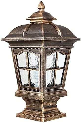 Wlnnes Impermeabile antiruggine Post Lampada Lampada da esterno lampada da esterno Semplicità europea in alluminio lampada a colonna di alluminio Pavilion Courtyard Courtyard Illuminazione
