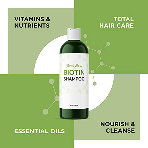 Natural Hair Loss Shampoo for Men and Women with Biotin for Hair Growth - DHT Blocker for Thicker Hair Volume - Sulfate Free Volumizing Shampoo - Color Treated Hair Care for Thinning Hair - 8 oz