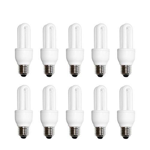 10 x näve Energiesparlampe Röhre 7W E27 warmweiß 2700K