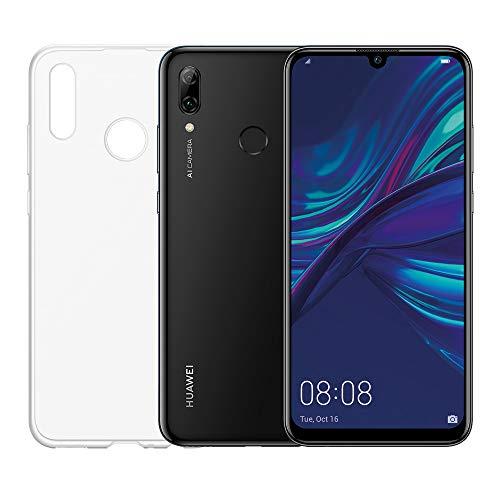 """HUAWEI P smart 2019 e Cover Trasparente, Smartphone con 64 GB, Display 6.21"""" Full HD+, Processore Octa Core Dinamico con Intelligenza Artificiale, Nero [Versione Italiana]"""