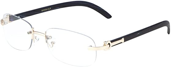 rimless clear glasses