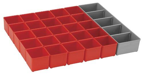 Bosch ORG53-RED Organizer Set für i-BOXX53, Teil Click and Go Mobiles Transportsystem, 26-teilig