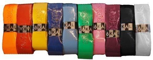 Karakal PU Supergrip Replacement Racquet Grip - Tennis/Badminton/Squash - Random Colour x 6