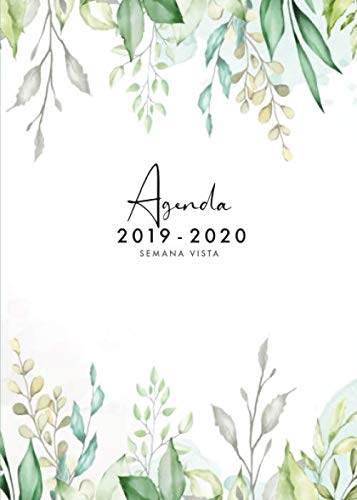 Agenda 2019 2020 Semana Vista: Agenda 2019/2020 18 meses:...