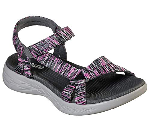 Skechers On The GO 600 Dazzling Womens River Sandals Charcoal/Multi 8