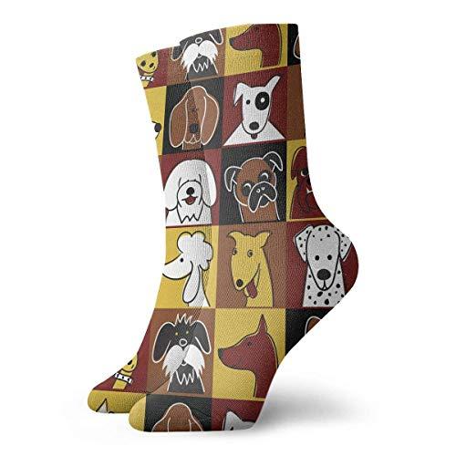 Calcetines Casuales Animal Dogs Face Printed Sport Athletic Calcetines Calcetines de compresión Calcetines de...