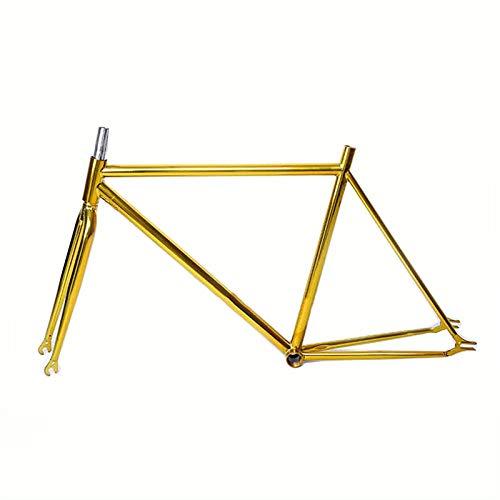 WANGYONGQI 52 cm vaste versnelling fiets frame racefiets frame fiets frame stalen plated fixie retro fiets frame