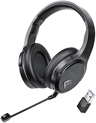 auvisio PC Headset: Digitales Funk-Headset mit abnehmbarem Mikrofon, 8 Std. Laufzeit, USB (Gaming Headset)