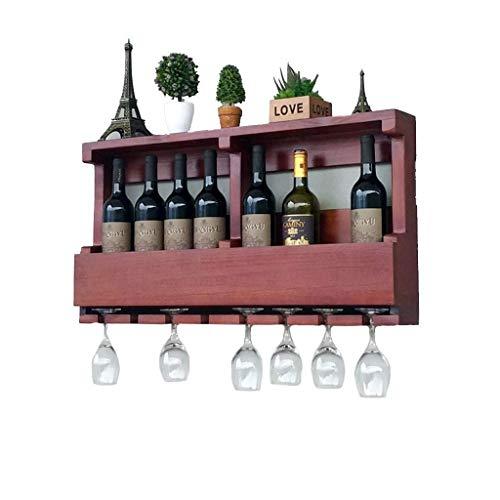 HLWJXS Estante de Alenamiento de Vino Estante de Pared Soporte de Botella de Vino Vintage Estante de Pared Montado en la Pared Organizador de Alenamiento Estante Colgante Soporte de Copa de Vino Sala