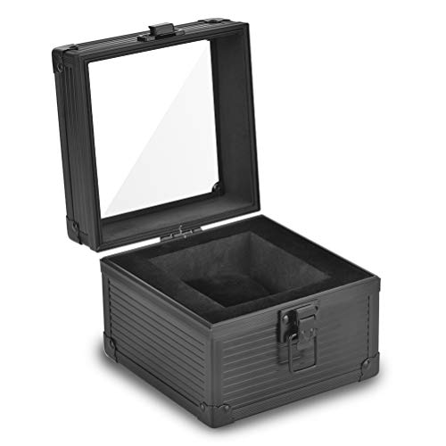 Aluminum Watch Gift Box,Aluminum Watch Case for a large watch 65mm