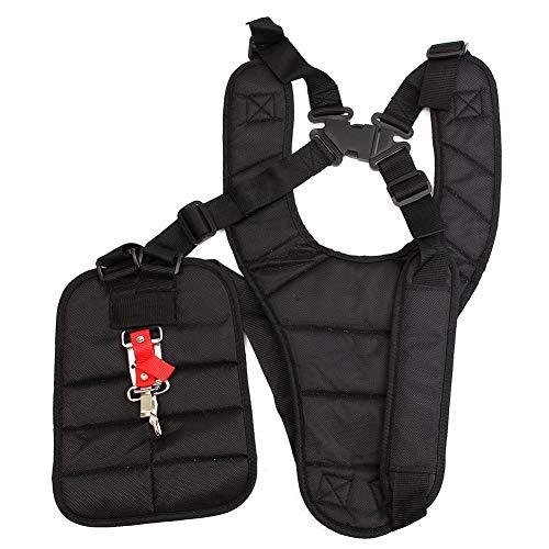 DEDC - Correa de hombro con hebilla de seguridad, ajustable, cómoda correa de hombro para desbrozadoras y desbrozadoras, color negro