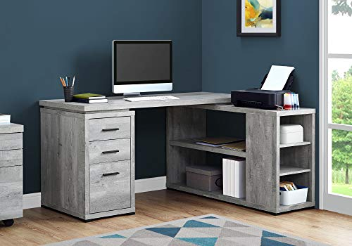 Monarch Specialties Computer Desk L-Shaped Corner Desk with storage - Left or...