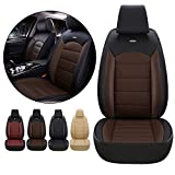 Front Seat Covers for Toyota Rav4 RAV 4 Hybrid Limited Prime SE 2002-2021 Car Seat Cover Luxury PU Leather Breathable Wear Resistant Black+Coffee