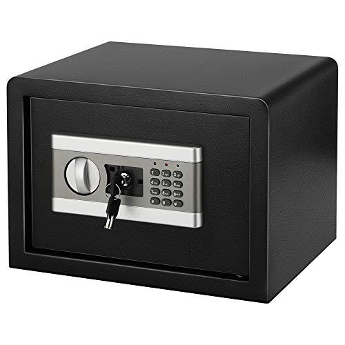 Tresor Safe mit Schlüssel Safe Cabinet TOPQSC Feuerfest und wasserdicht Elektronisches Passwort Safe Ganzstahl In-Wall Home Office Safe für Bargeld Geld Schmuck