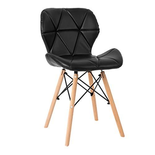 HLQW Silla de comedor de madera maciza respaldo de ocio silla de plástico silla de oficina reunión para discutir silla silla