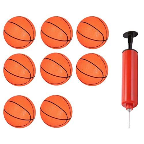 TOYANDONA 8 Piezas Pequeñas Pelotas Deportivas de Baloncesto Inflables de Baloncesto con Inflador para Deportes Al Aire Libre para Niños