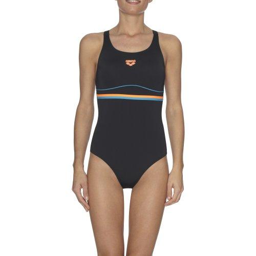 Arena Womens Mesco One Piece Pro Back Swim Swimming Costume Swimsuit Black - 38