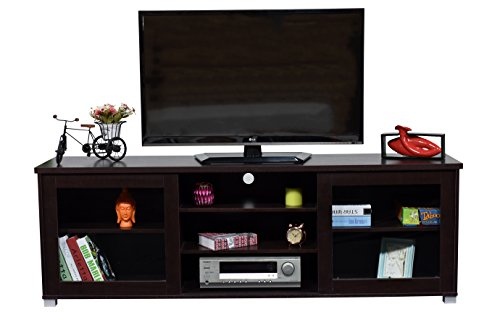 DeckUp Versa Home Entertainment Unit and TV Stand (Dark Wenge, Matte Finish)