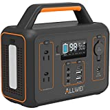 ALLWEI Portable Power Station, 300W/Peak 600W...