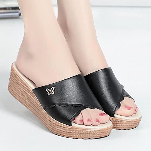 Zapatillas De Casa Para Mujer Verano,Zapatillas De Novia,Sandalias De Cuero De Verano...